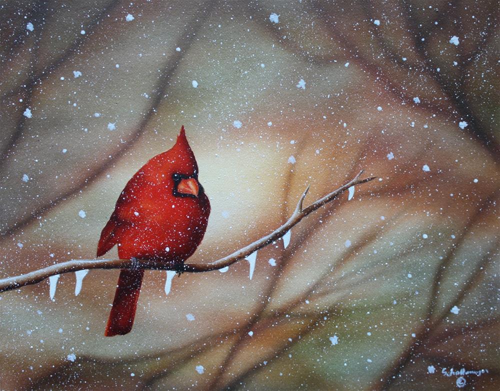 """Icy Perch"" original fine art by Fred Schollmeyer"