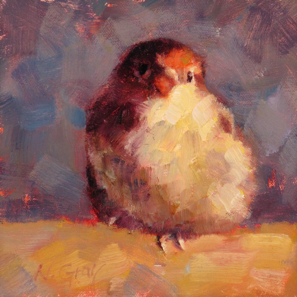 """""""Tobi the Sparrow No.4"""" original fine art by Naomi Gray"""