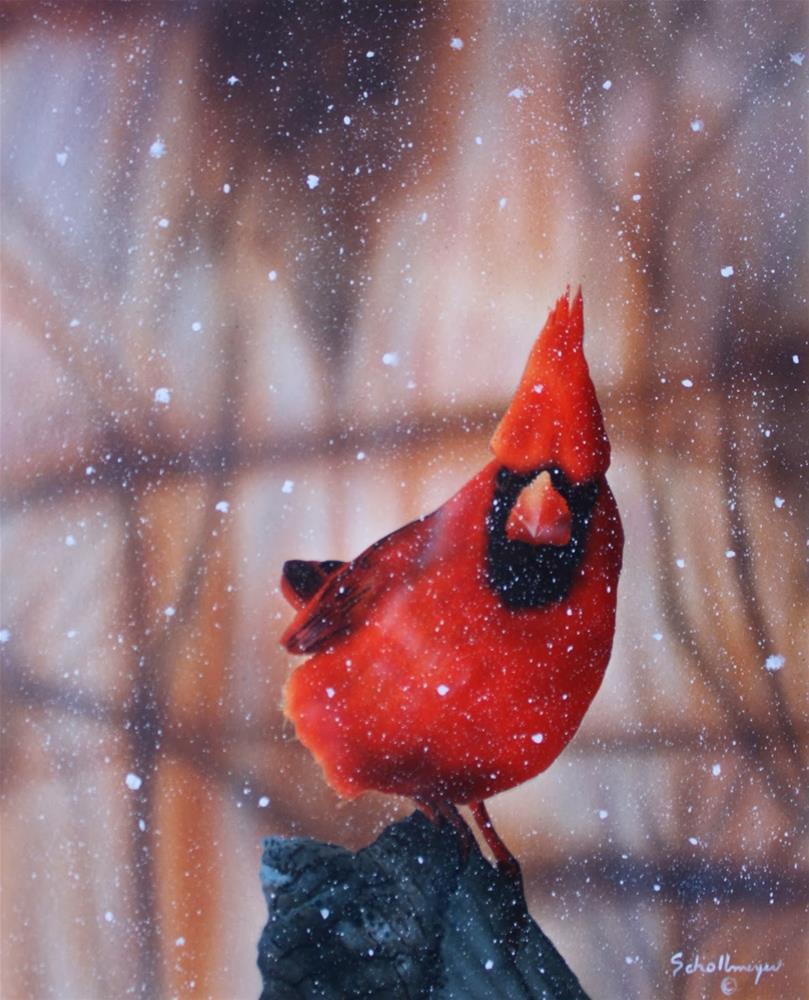 """""""Looking at More Snow"""" original fine art by Fred Schollmeyer"""