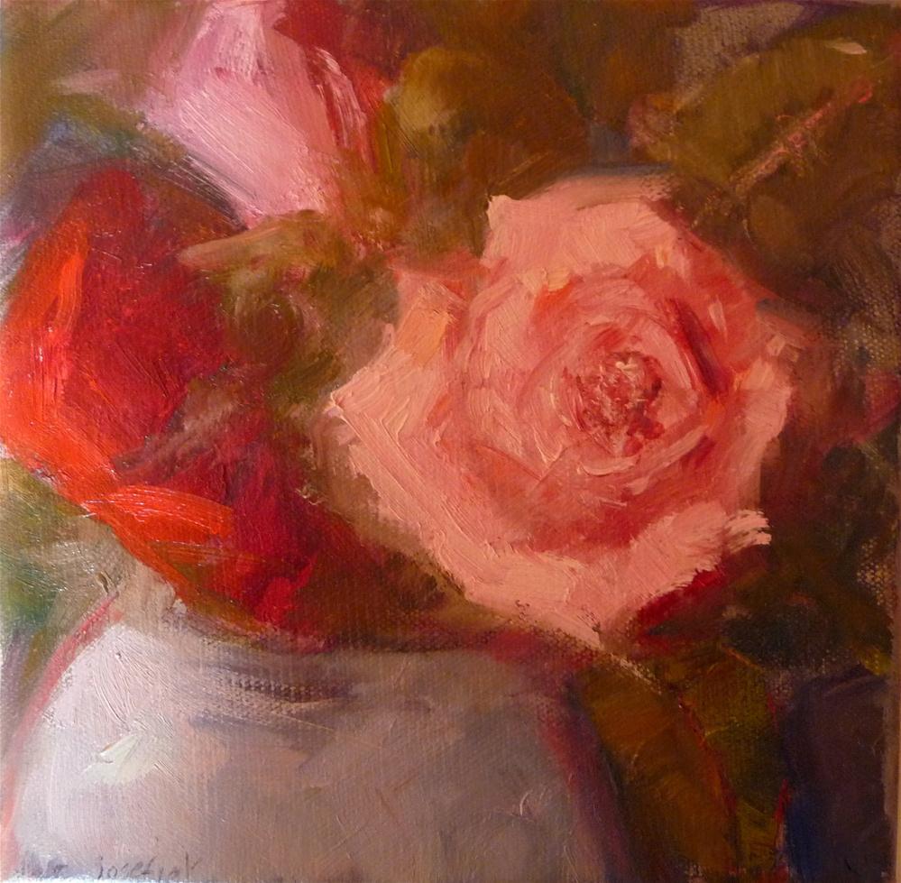 """Pink and Red Roses"" original fine art by Carol Josefiak"