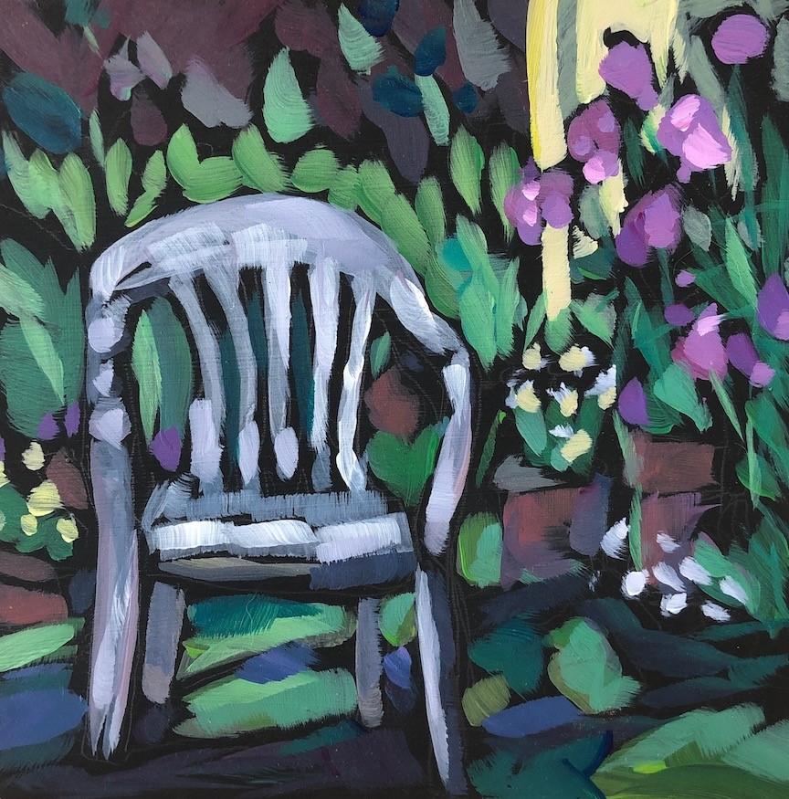 """""""Elizabeth's Garden"""" original fine art by Kat Corrigan"""