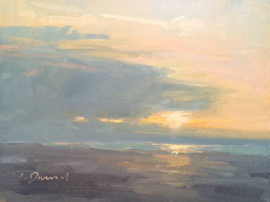 """Ocean Sunrise - Georgia Coast"" original fine art by Laurel Daniel"