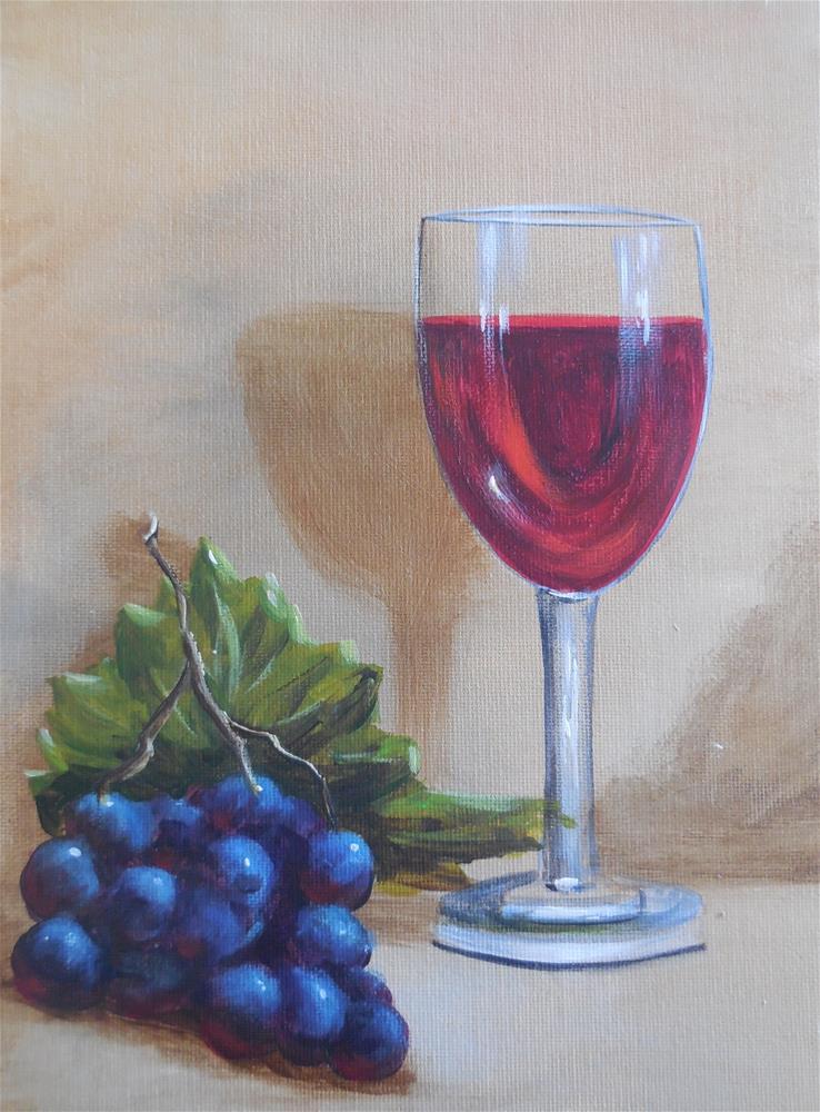 """Cabernet"" original fine art by Terri Nicholson"