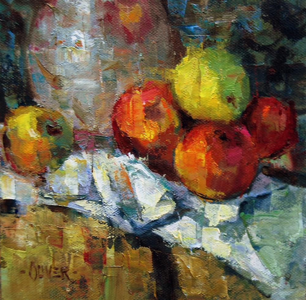 """""""Fracturing  a Little Part of a Cezanne"""" original fine art by Julie Ford Oliver"""