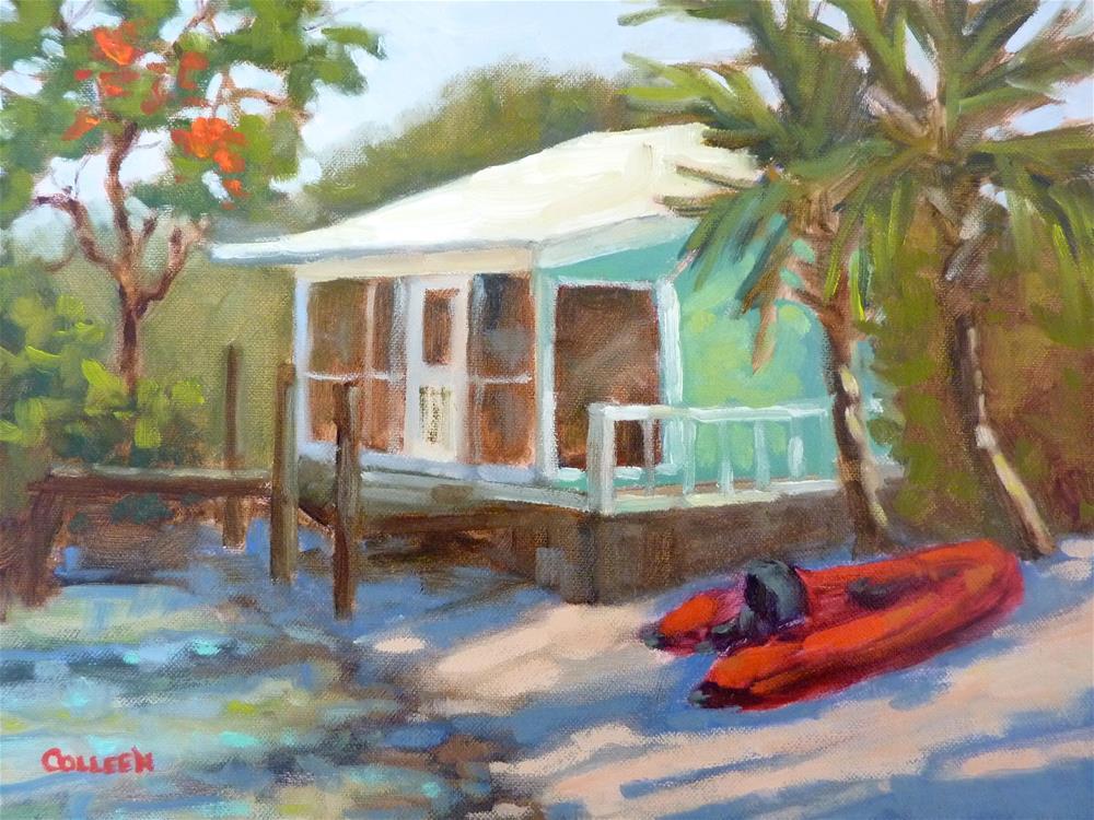 """""""Beach House"""" original fine art by Colleen Parker"""