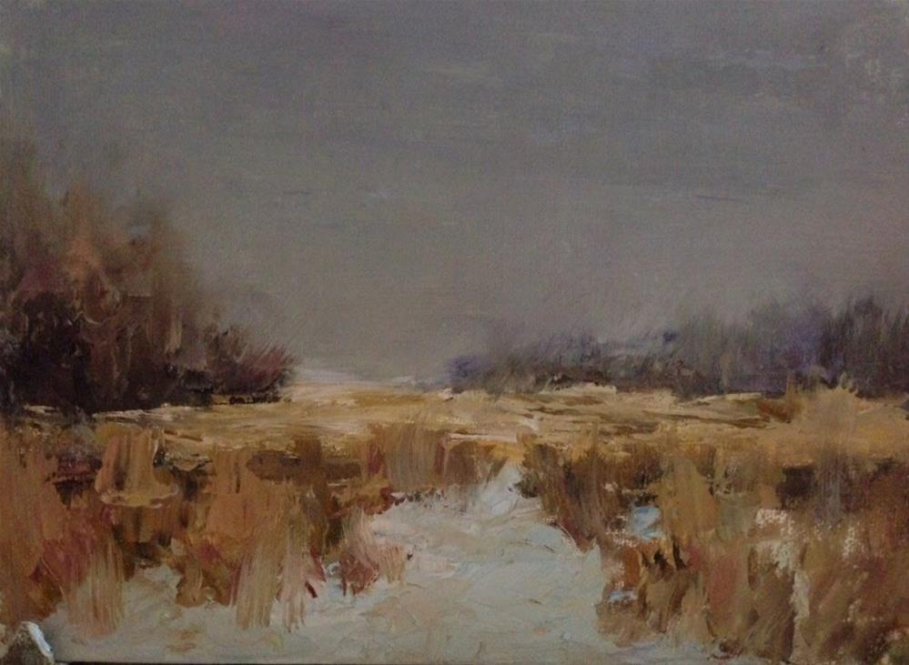 """Winter Marsh "" original fine art by Judith Anderson"