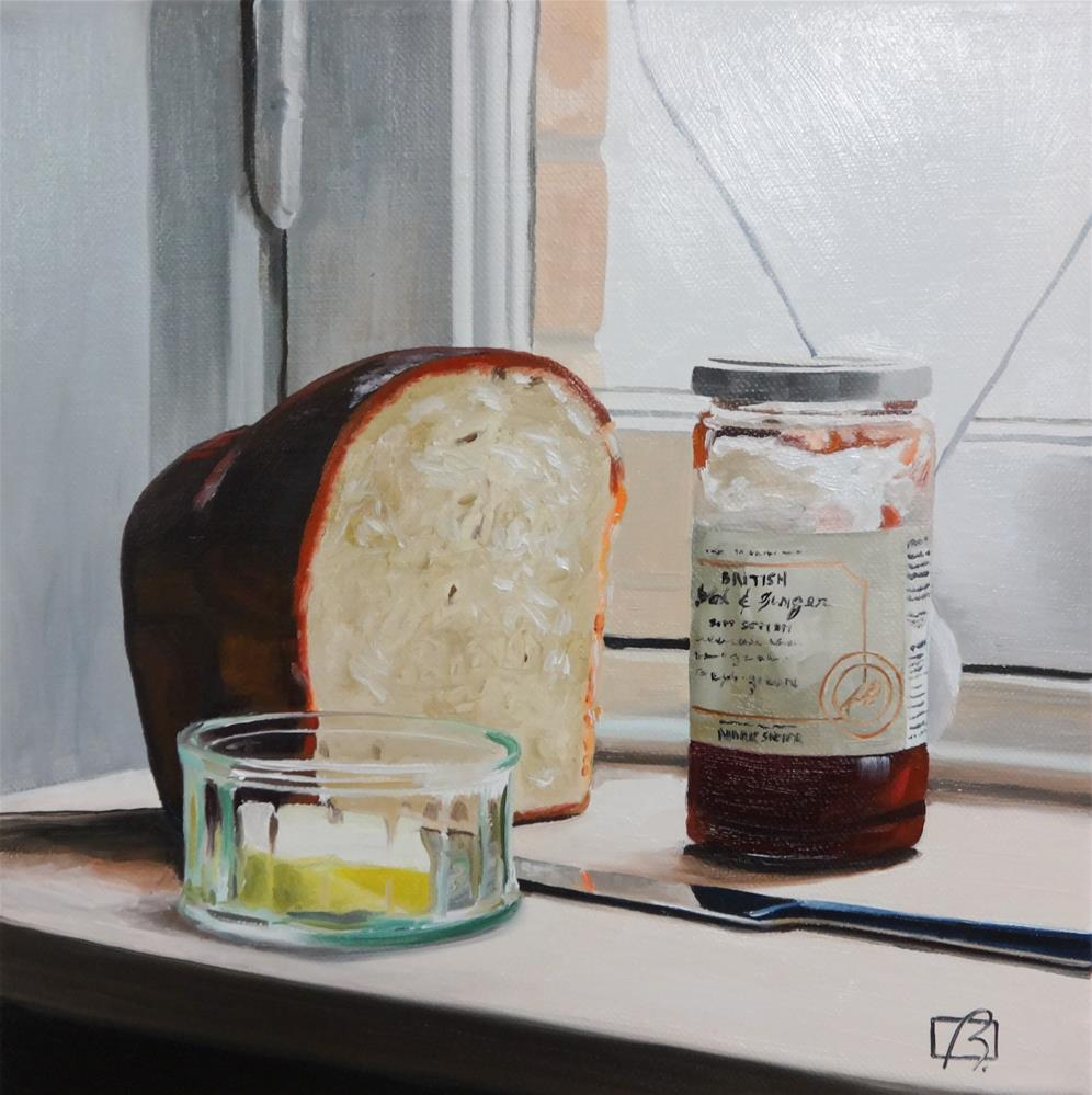 """""""Bread and Jam for Francis"""" original fine art by Andre Beaulieu"""