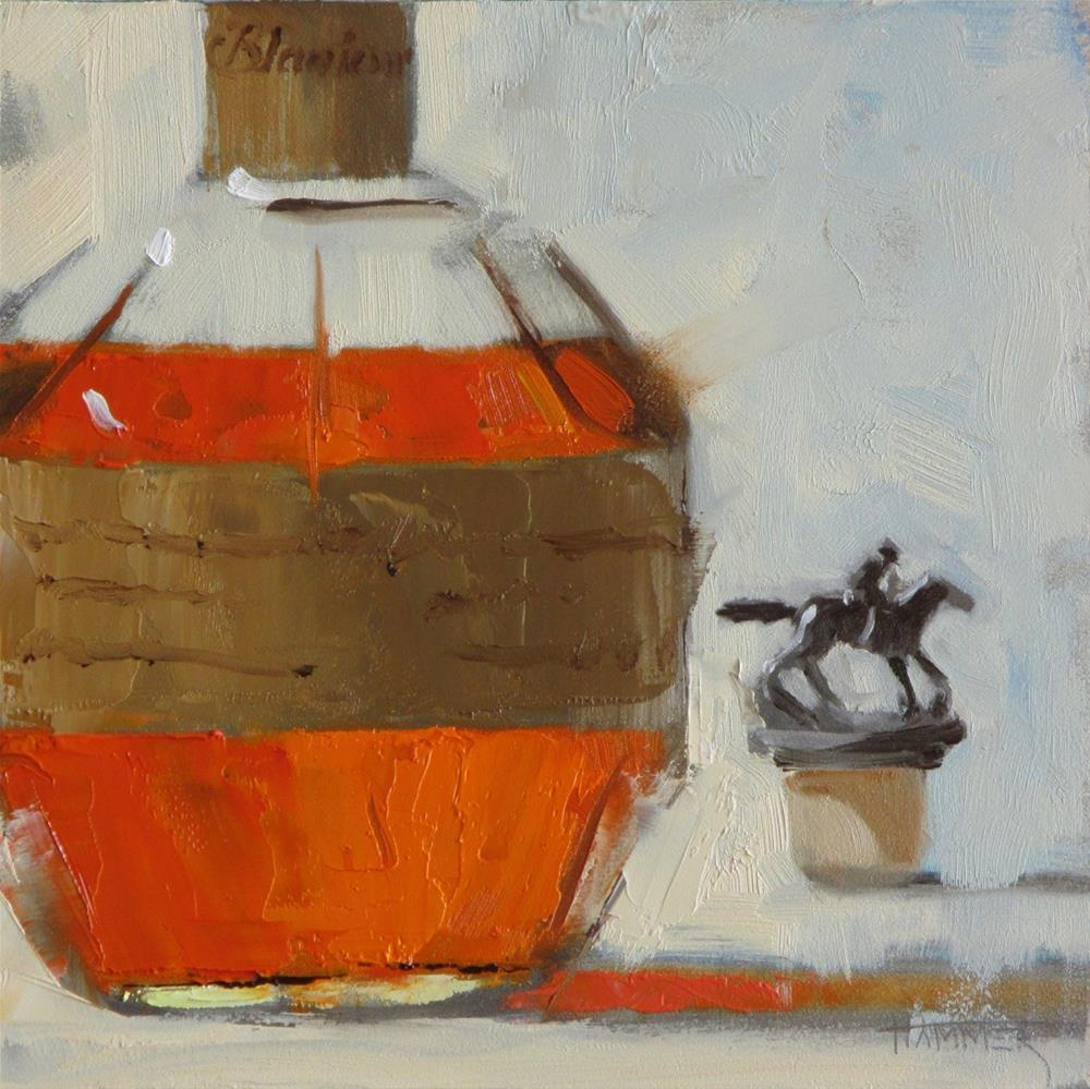"""Blanton's No.10  6in x 6in  oil"" original fine art by Claudia Hammer"