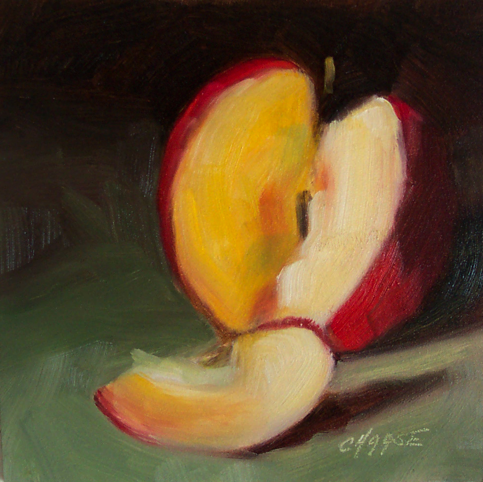 """Apple Slice"" original fine art by Cindy Haase"