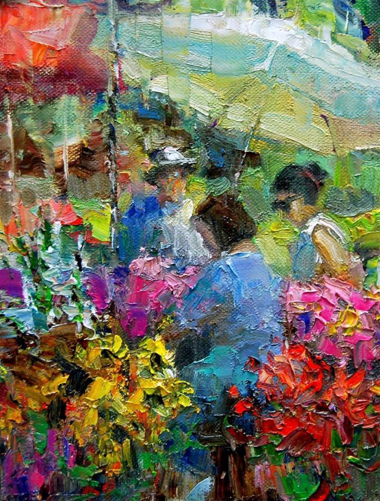 """""""Farmers Market # 22"""" original fine art by Julie Ford Oliver"""