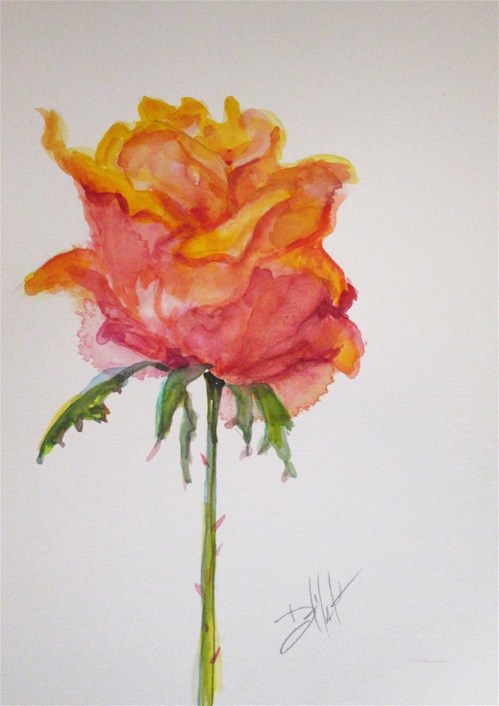 """Bright Rose"" original fine art by Delilah Smith"