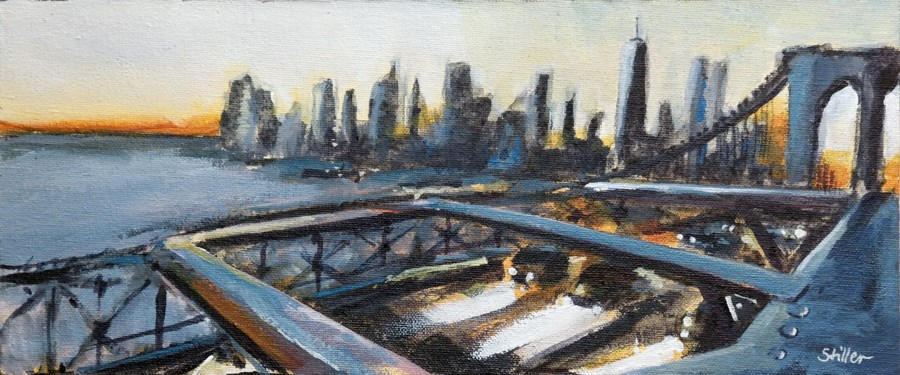 """1936 Brooklyn Bridge Two"" original fine art by Dietmar Stiller"