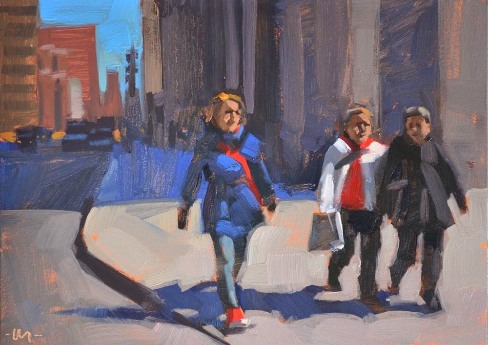 """Red Strap"" original fine art by Carol Marine"