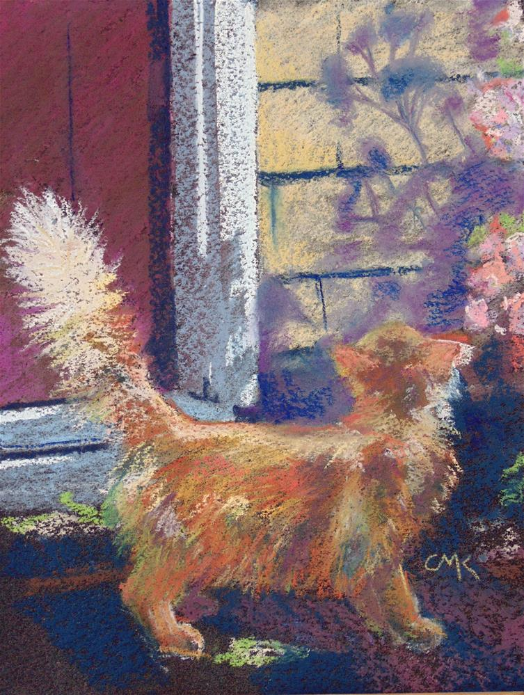 """Jack and the shadows"" original fine art by Catherine Kauffman"