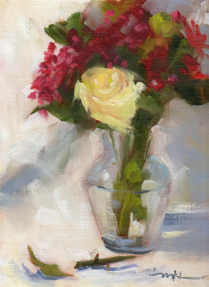 """Yellow Rose"" original fine art by Marlene Lee"