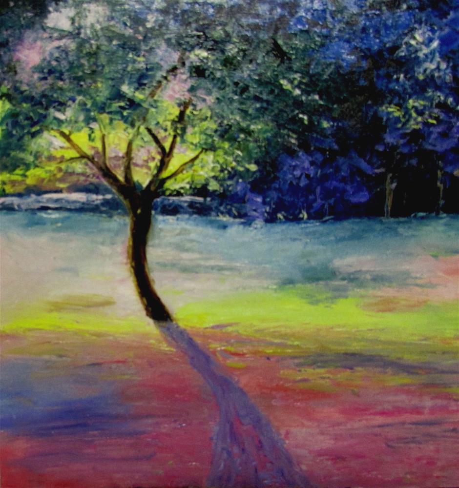 """12 x 12 inch oil Country Colors #1"" original fine art by Linda Yurgensen"
