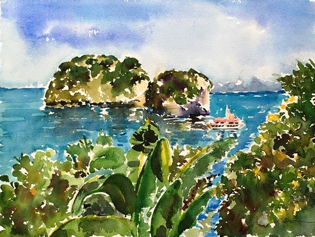 """Puerto Vallarta, Mexico"" original fine art by Lisa Fu"
