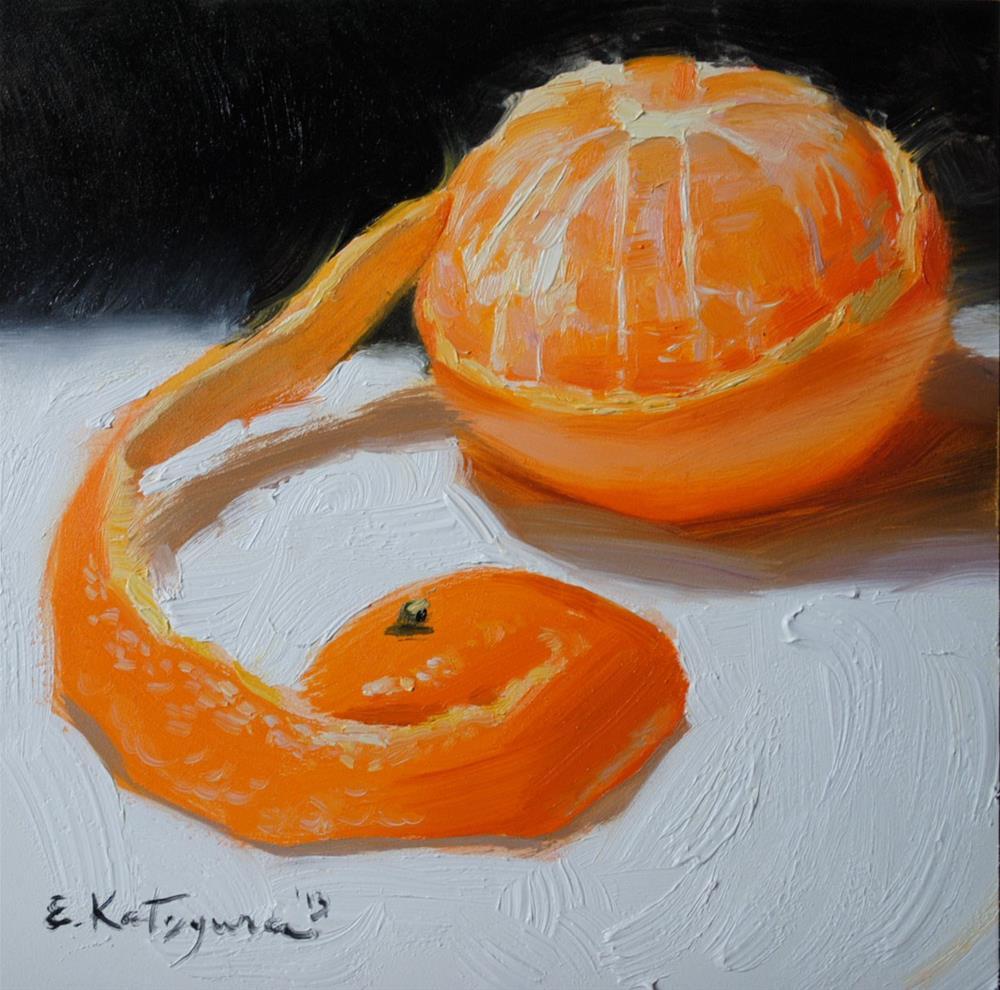 """Tangerine"" original fine art by Elena Katsyura"
