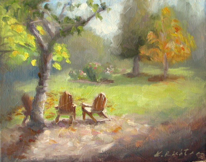 """Memory of Autumn"" original fine art by Keiko Richter"