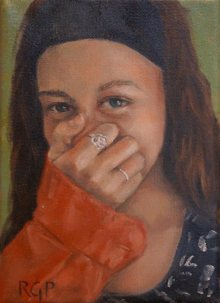 """""""Oops!"""" original fine art by Rhea  Groepper Pettit"""