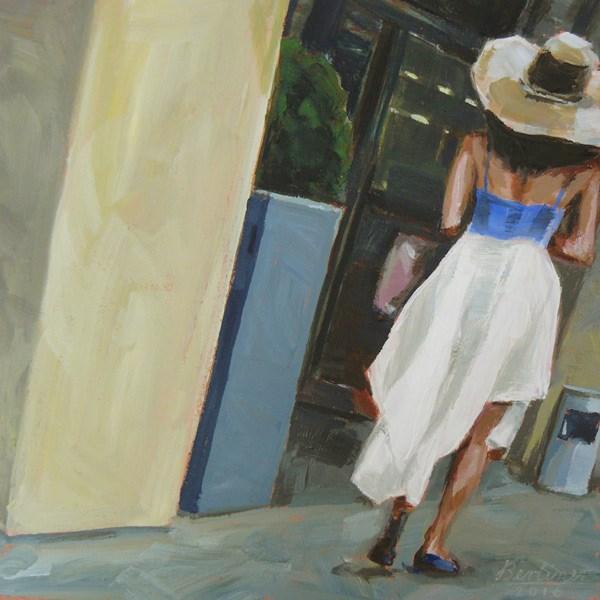 """047 Shopping"" original fine art by Anja Berliner"