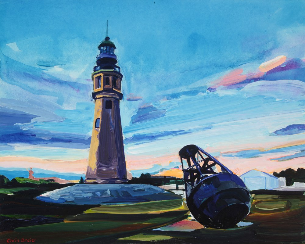"""Buffalo Lighthouse"" original fine art by Chris Breier"