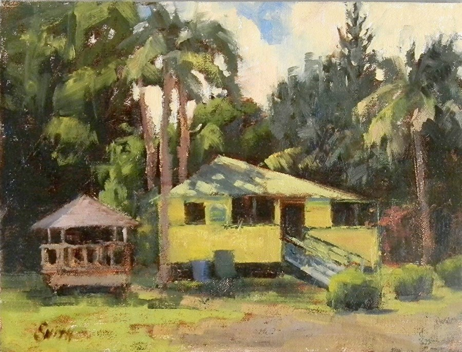 """Banana Joe's, Kauai"" original fine art by Barbie Smith"