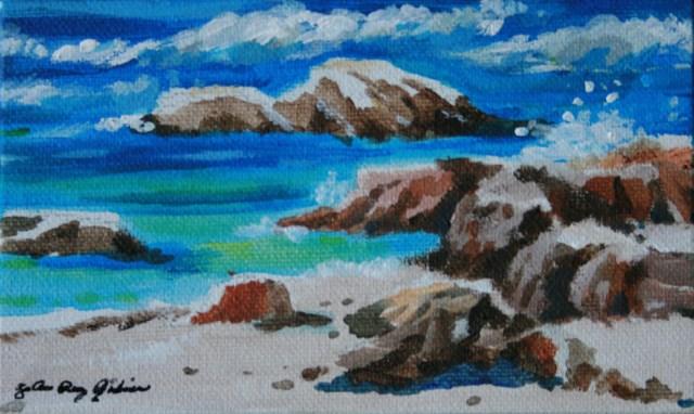 """Holding Back the Waves"" original fine art by JoAnne Perez Robinson"