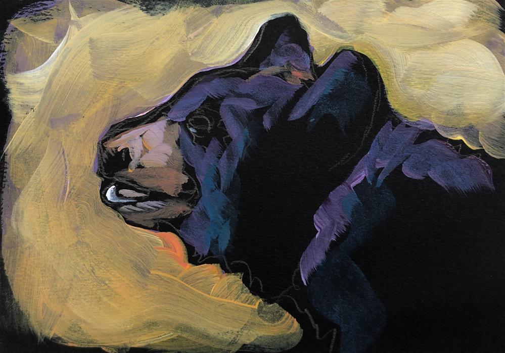 """""""Bear Lipped"""" original fine art by Kat Corrigan"""