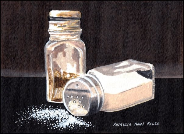 """Salt and Pepper"" original fine art by Patricia Ann Rizzo"