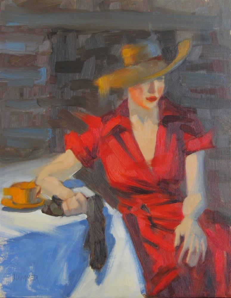 """Waiting  11x14 oil"" original fine art by Claudia Hammer"