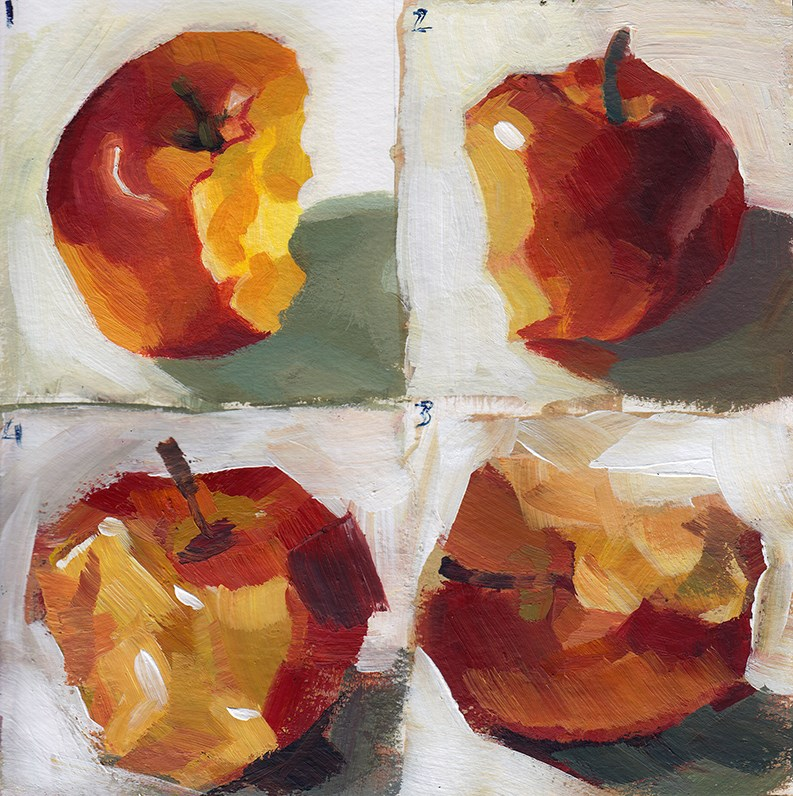 """Loose Apple"" original fine art by J M Needham"