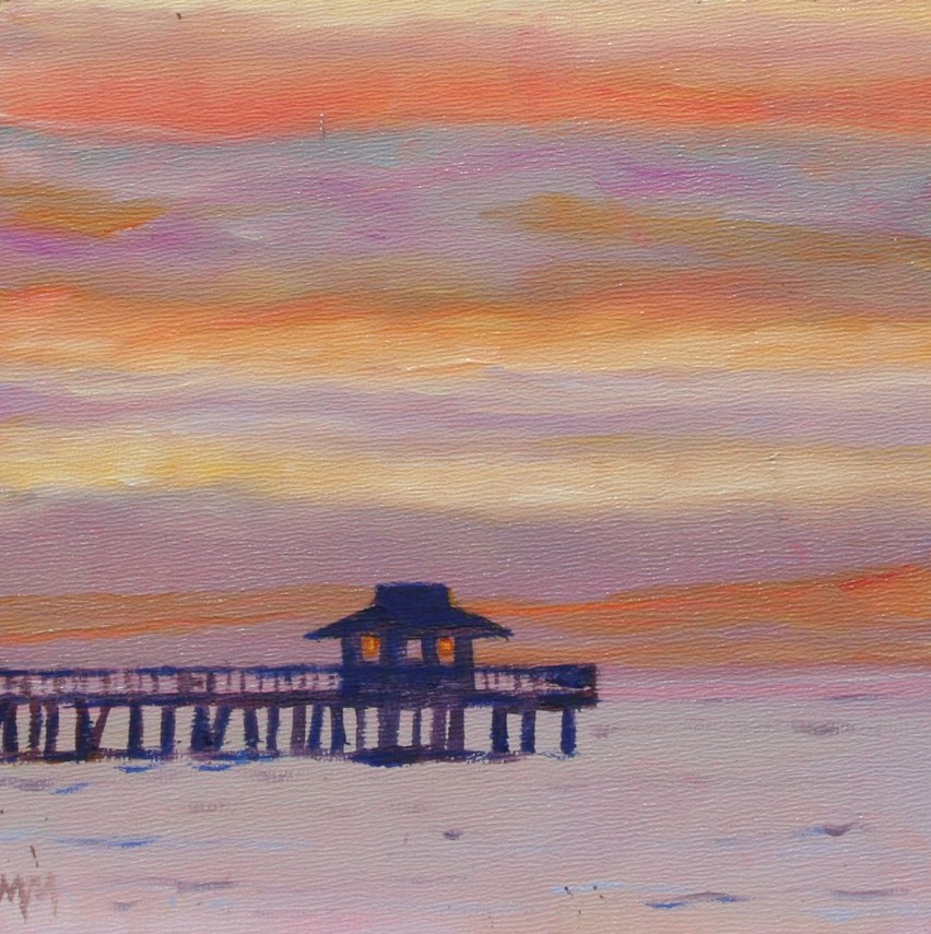 """Naples Sunset"" original fine art by Maria McNitt"