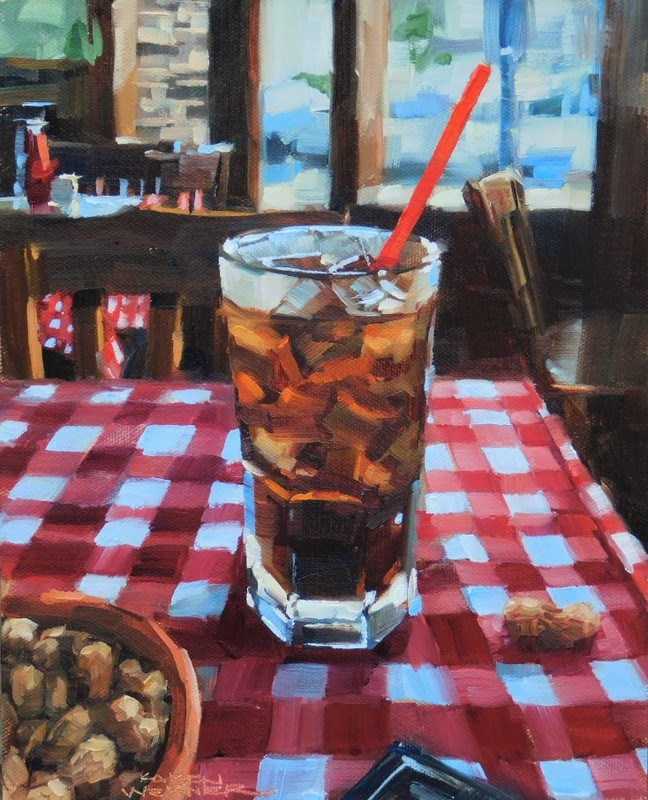 """Peanuts & Coke"" original fine art by Karen Werner"