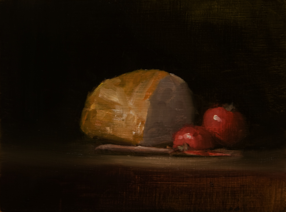 """""""Bread with Tomatoes"""" original fine art by Neil Carroll"""