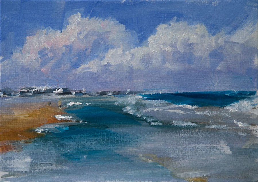 """Distant Storm"" original fine art by Clair Hartmann"