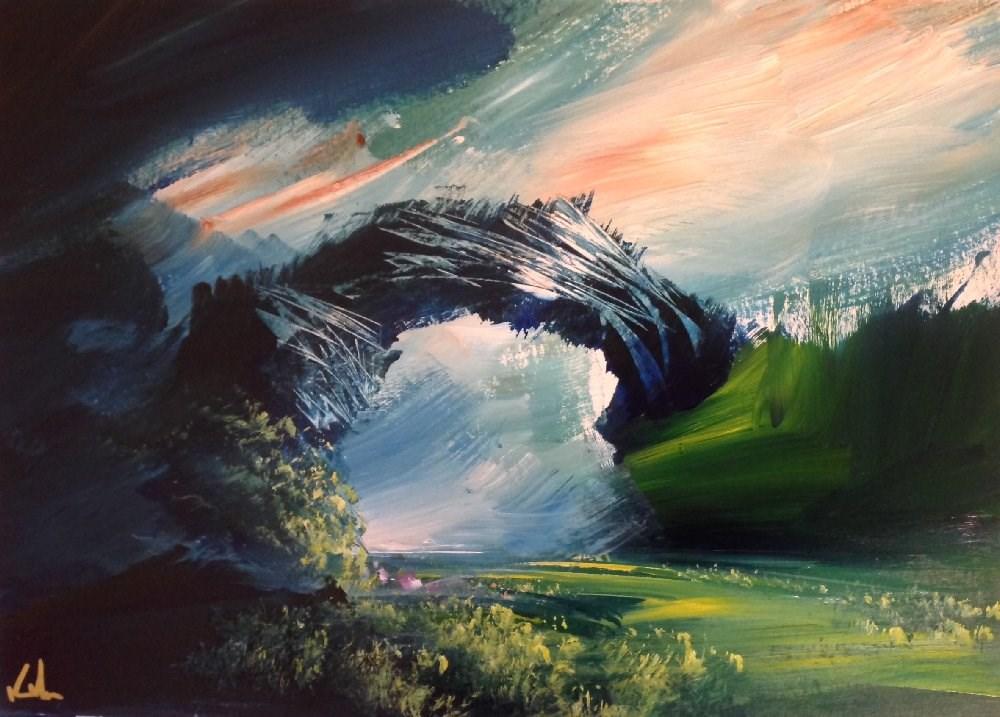 """Beginning of a Rhyme"" original fine art by David Kuhn"