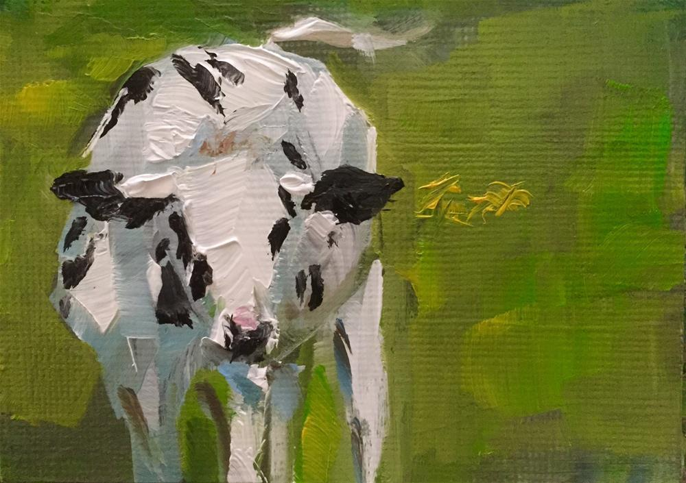 """Cow"" original fine art by Gary Bruton"