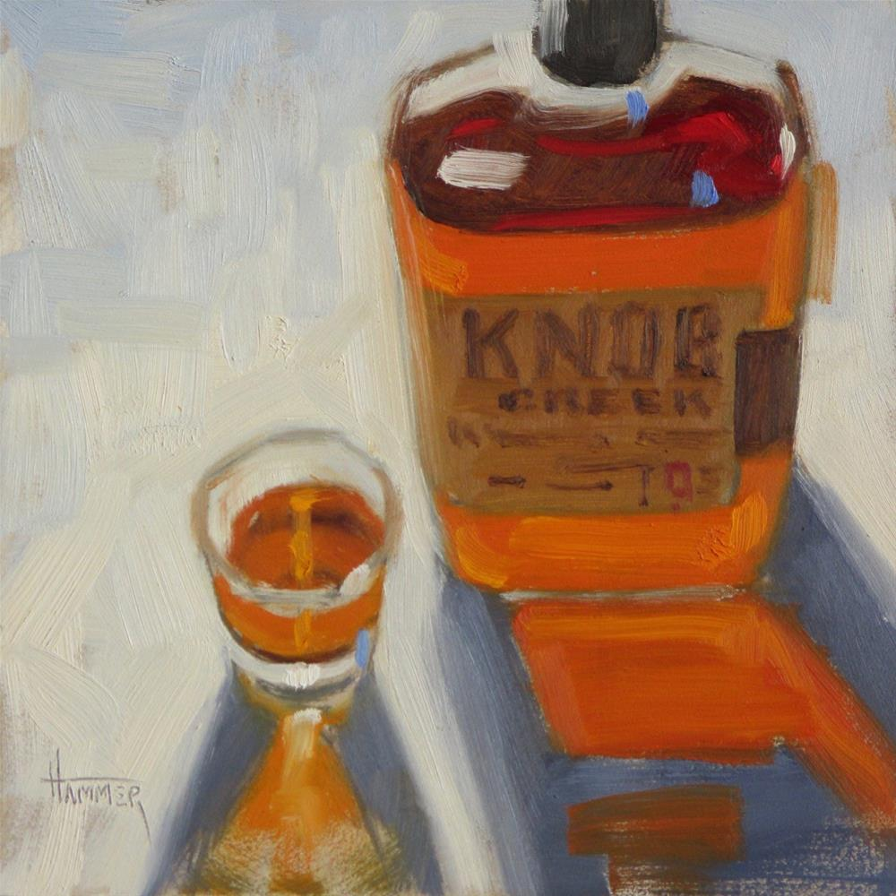 """Knob Creek Glow 6in x 6in  Oil"" original fine art by Claudia Hammer"