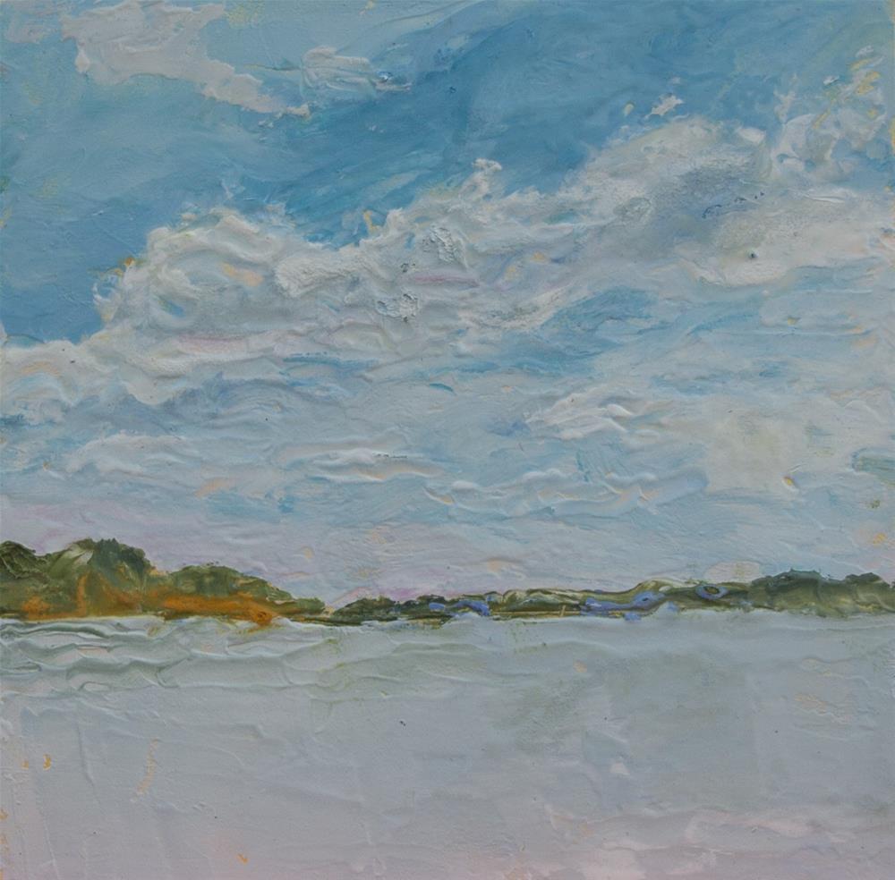 """""""Across the Water"""" original fine art by Maria McNitt"""
