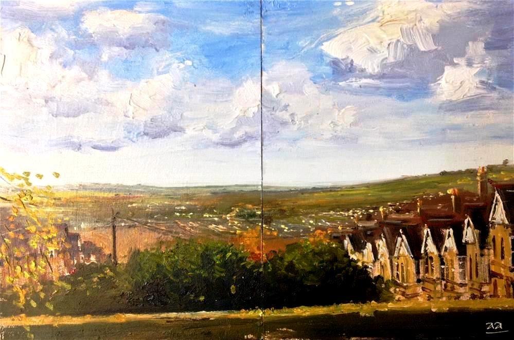 """""""City of Bath from Alexander Park"""" original fine art by Adebanji Alade"""