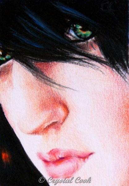 """""""Sliced"""" original fine art by Crystal Cook"""