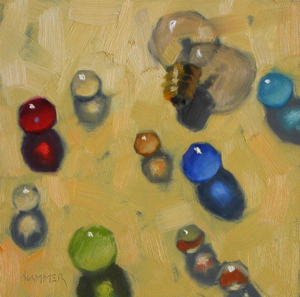 """""""Our Fearless Leader!  6 x 6  oil"""" original fine art by Claudia Hammer"""