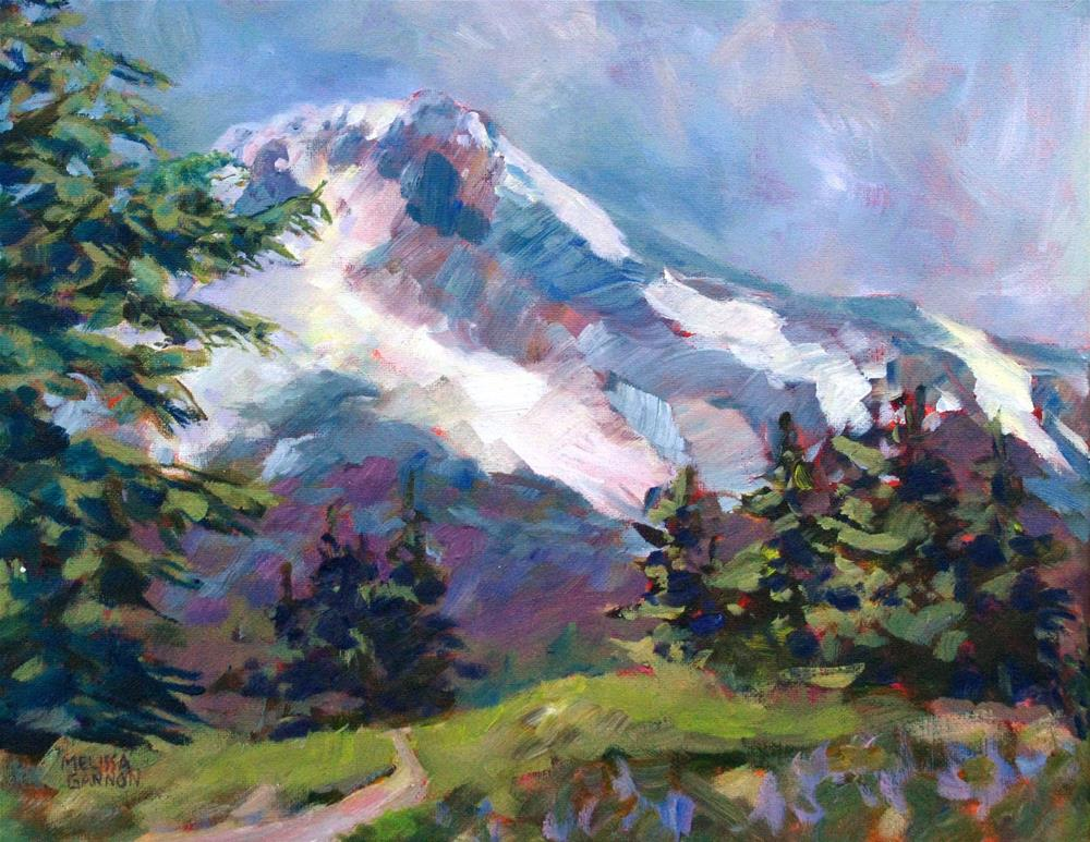 """Alpine View"" original fine art by Melissa Gannon"