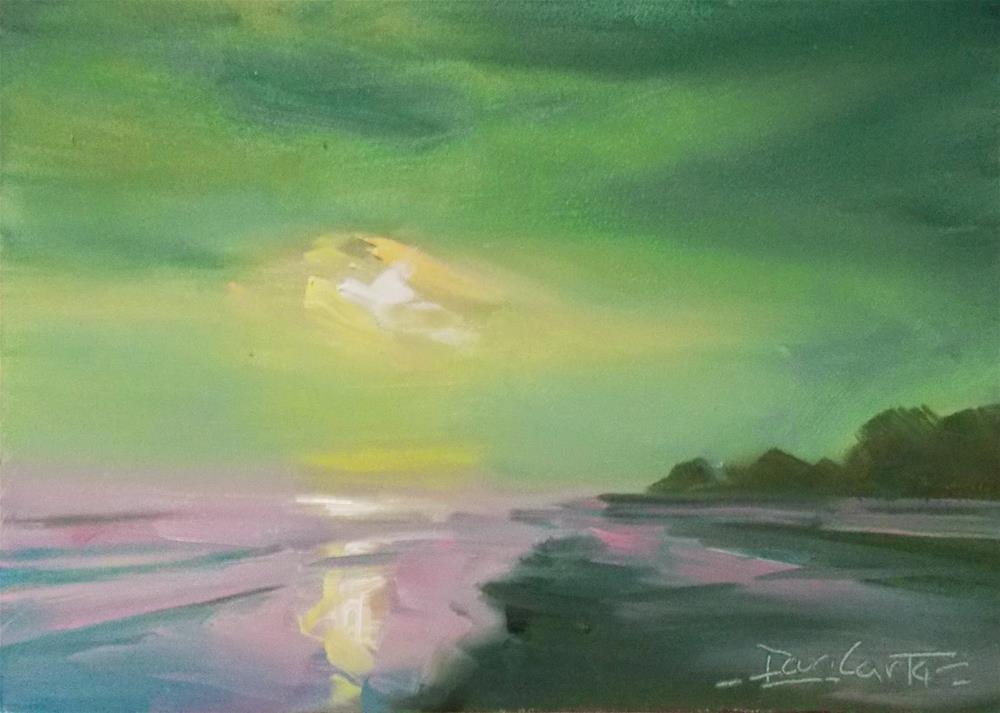 """""""COOL BEACH"""" original fine art by Doug Carter"""