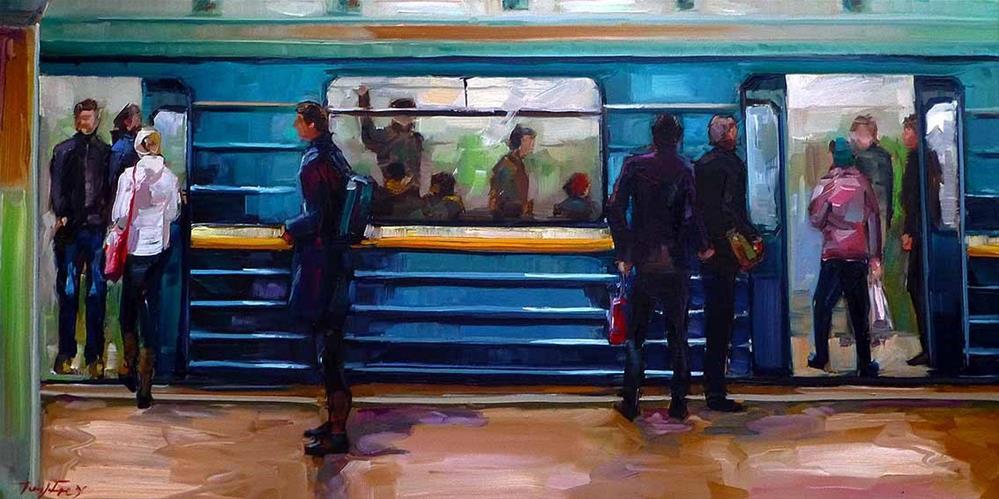"""""""moskauer metro"""" original fine art by Jurij Frey"""