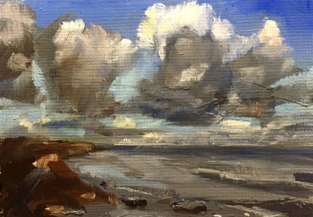 """Clouds and Sea"" original fine art by Gary Bruton"