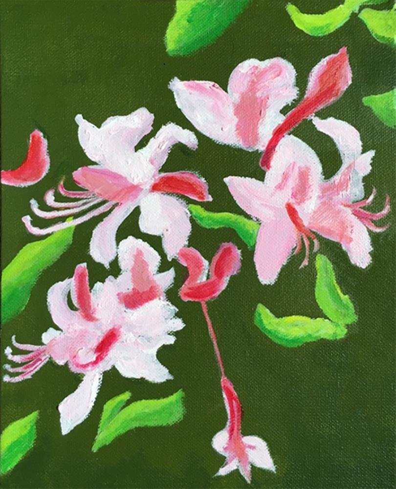 """Cherry Blossom"" original fine art by Betsy Cook"