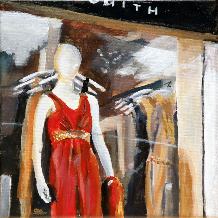 """""""1222 The Red Dress"""" original fine art by Dietmar Stiller"""