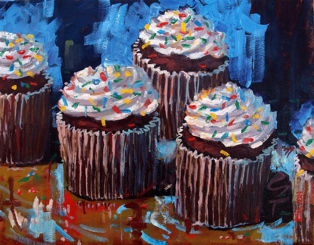 """Cupcake Compulsion"" original fine art by Rick Nilson"